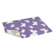 """26"""" x 20"""" 防滑寵物床墊 - 淺紫色配白色蝴蝶"""