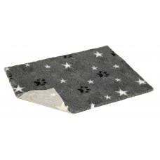 "19"" x 15"" - 防滑寵物床墊 - 灰底配白星星黑掌印"