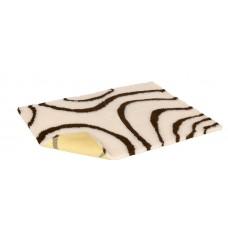 1m X 150cm 防滑寵物床墊 - 忌廉配啡色漩渦