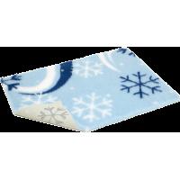 """40"""" X 30"""" - 防滑寵物床墊 - 淺藍底配藍白雪花"""