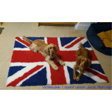 1m X 150cm 防滑寵物床墊 - 英國國旗